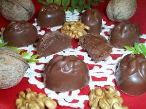 Cioccolatini ripieni crema noce