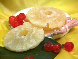 Ananas a fette disidratata